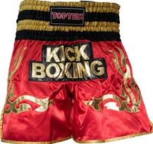 "Pantaloncini Kickboxing TOP TEN ""WAKO"" Rosso"