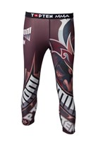 "Pantaloncini TOP TEN MMA Compression 3/4 ""Samurai"" Rosso"