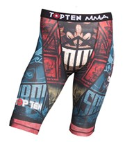 "Pantaloncini TOP TEN MMA Compression ""Samurai"""