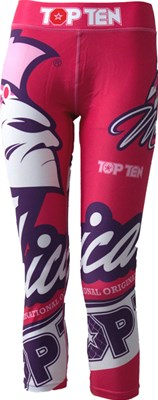 """Compression Pants TOP TEN """"Mohicans"""" Red"""