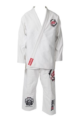 "Brazilian Jiu-Jitsu Gi TOP TEN ""Guerriero"" White"