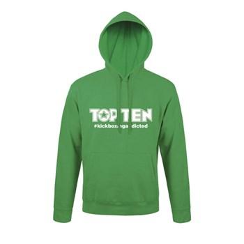 Hoodie TOP TEN #kickboxingaddicted Green