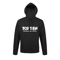 Hoodie TOP TEN #kickboxingaddicted Black