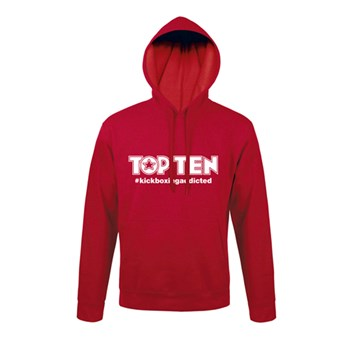 Hoodie TOP TEN #kickboxingaddicted Red