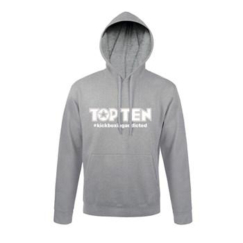 Hoodie TOP TEN #kickboxingaddicted Grey