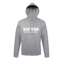 Hoodie TOP TEN #kickboxingaddicted Grey