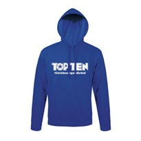 Hoodie TOP TEN #kickboxingaddicted Blue