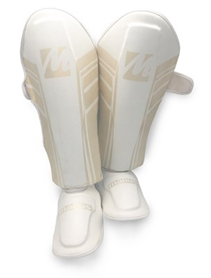 "Shinguard MANUS ""Pearl White"" (K1, MMA, Thaiboxing)"