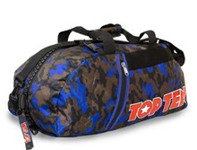 TOP TEN Sportbag/backpack combo SPORT BAG Camouflage/Blue Big