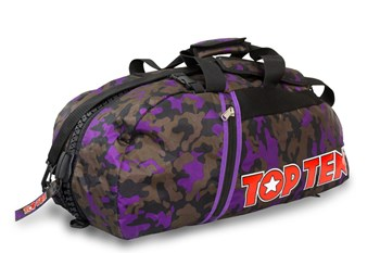 TOP TEN Sportbag/backpack combo SPORT BAG Camouflage/Purple Small