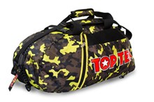 TOP TEN Sportbag/backpack combo SPORT BAG Camouflage/Yellow Small