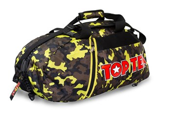 TOP TEN Sportbag/backpack combo SPORT BAG Camouflage/Yellow Big