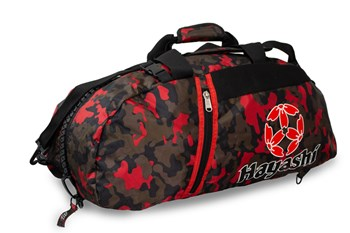 HAYASHI Sportbag/backpack combo SPORT BAG Camouflage/Red Small