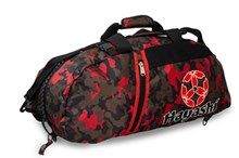HAYASHI Sportbag/backpack combo SPORT BAG Camouflage/Red Big