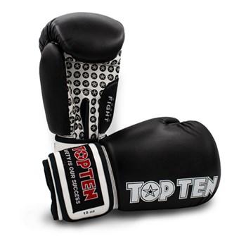 Kickoxing Gloves TOP TEN FIGHT Black 16 oz
