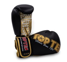 "Kickboxing Gloves TOP TEN ""Women"" Black/Gold 10 oz"