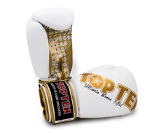 "Guantoni Kickboxing TOP TEN ""Women"" Bianco/Oro 10 oz"