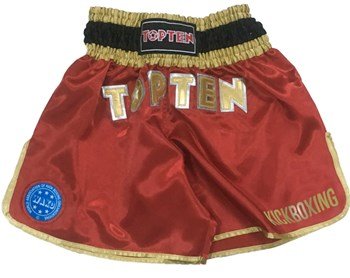 Pantaloncini Kickboxing TOP TEN WAKO Rosso