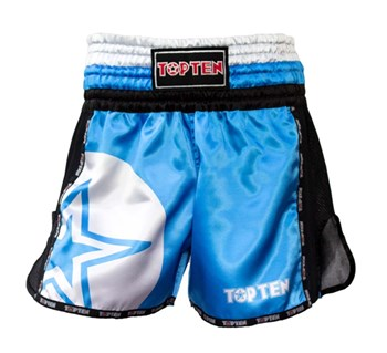 "Kickboxing Thai Shorts TOP TEN ""STAR"" Blue"