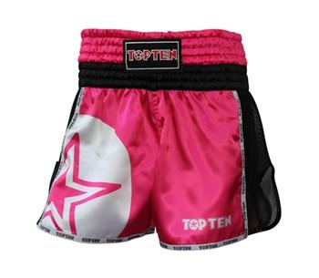"""Kickboxing Thai Shorts TOP TEN """"STAR"""" Pink"""
