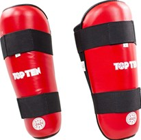 "TOP TEN Shin Guard ""WAKO Style"" Red"