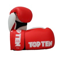 "Kickboxing Gloves TOP TEN ""XLP"" Red 10/12/14/16 oz"