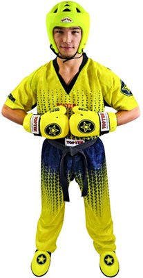 "Kickboxing Uniform TOP TEN ""Grafic"" Yellow/Black"