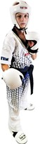 "Kickboxing Uniform TOP TEN ""Grafic"" White/Black"