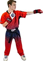 "Kickboxing Uniform TOP TEN ""Grafic"" Red/Black"