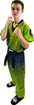 "Kickboxing Uniform TOP TEN ""Grafic"" Green/Black"