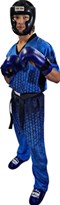 "Kickboxing Uniform TOP TEN ""Grafic"" Blue/Black"