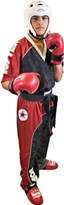 "Kickboxing Uniform TOP TEN ""Bow"" Black/Red/White"