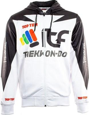 """TOP TEN Hoodie """"ITF Peaks"""" with Zip"""