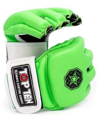"""Striking Gloves TOP TEN MMA """"Striking C-Type"""" Green"""