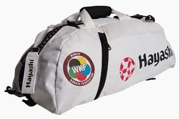 """HAYASHI Sportbag/backpack combo SPORT BAG """"WKF"""" Small White"""