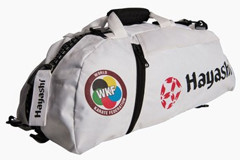 "HAYASHI Sportbag/backpack combo SPORT BAG ""WKF"" Big White"