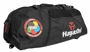 """HAYASHI Sportbag/backpack combo SPORT BAG """"WKF"""" Small Black"""