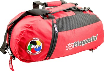 "HAYASHI Sportbag/backpack combo SPORT BAG ""WKF"" Small Red"