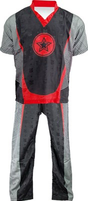 "Kickboxing Uniform TOP TEN ""Big Star"" Red"