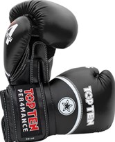 "Boxing Gloves TOP TEN ""4 Select"" Black 10/12/14/16 oz"