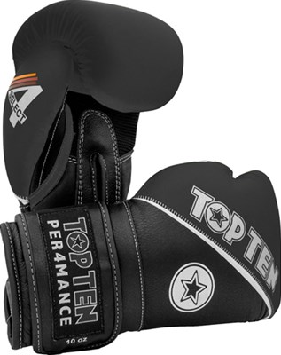"Boxing Gloves TOP TEN ""4 Select"" Leather Black 10/12/14/16 oz"