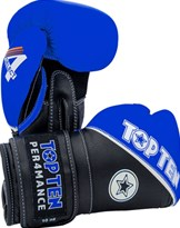"Boxing Gloves TOP TEN ""4 Select"" Leather Blue 10/12/14/16 oz"