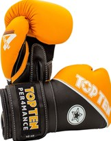 "Guantoni Boxe TOP TEN ""4 Select"" in Vera Pelle Arancio 10/12/14/16 oz"