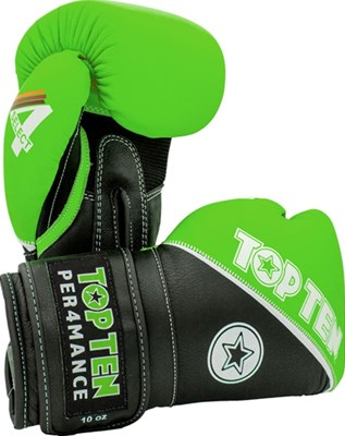 "Boxing Gloves TOP TEN ""4 Select"" Leather Green 10/12/14/16 oz"