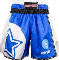 """Pantaloncini Kickboxing TOP TEN """"WAKO STAR"""" Blu"""