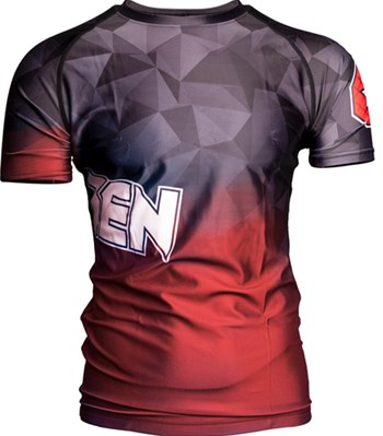 "Maglietta MMA TOP TEN Rash Guard ""Prism"" Manica Corta"