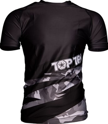 "Maglietta MMA TOP TEN Rash Guard ""Scratched"" Manica Corta"
