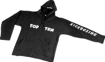 Embroidered TOP TEN KICKBOXING hooded sweatshirt