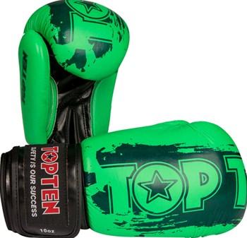 """Guantoni Kickboxing Top Ten """"Power Ink"""" Verde 10/12/14/16 oz"""