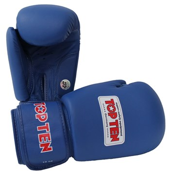 Boxing Gloves TOP TEN Competition AIBA Official 10 Oz with Label